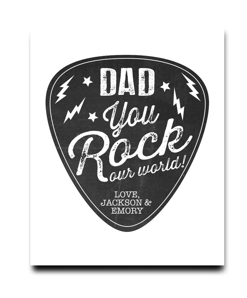 You Rock Dad Print - Hypolita Co.