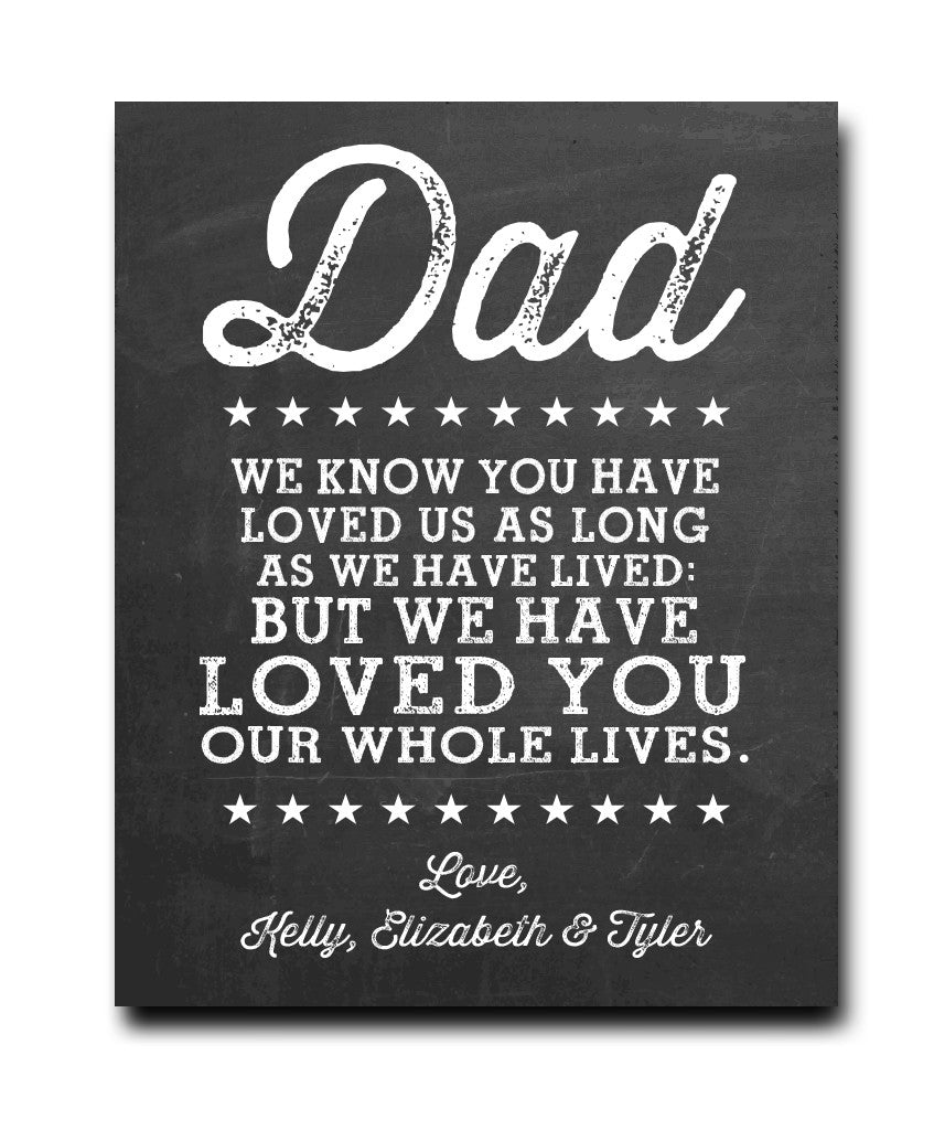 Love You Dad Print - Hypolita Co.