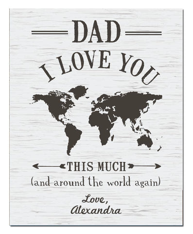 Dad I Love You Print - Hypolita Co.