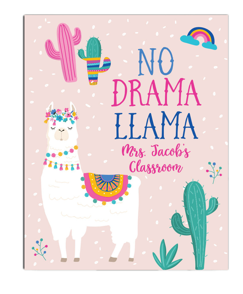 Llama Teacher Print - Hypolita Co.