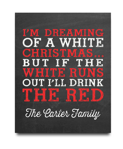 Drink the Red Christmas Print - Hypolita Co.