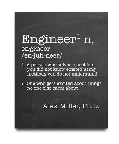 Engineer Definition Print - Hypolita Co.