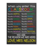 Enter Classroom Print - Hypolita Co.