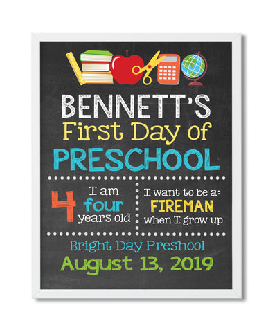 First Day of School Digital File - Hypolita Co.