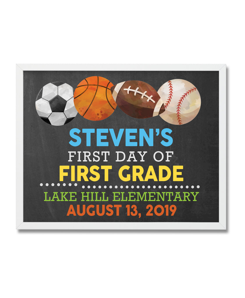 First Day of School Sports Digital File - Hypolita Co.