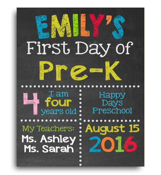 First Day of School Digital Download