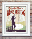 Gone Fishing Print