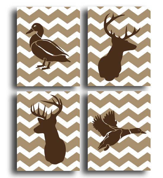 Duck & Deer Four Print Set - Hypolita Co.