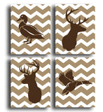 Duck & Deer Four Print Set