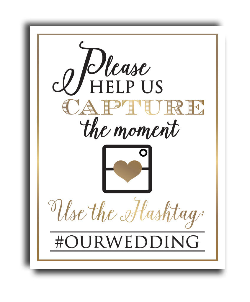 Hashtag Wedding Print - Hypolita Co.