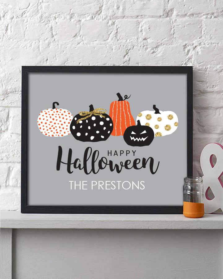 Pumpkin Collage Halloween Print - Hypolita Co.