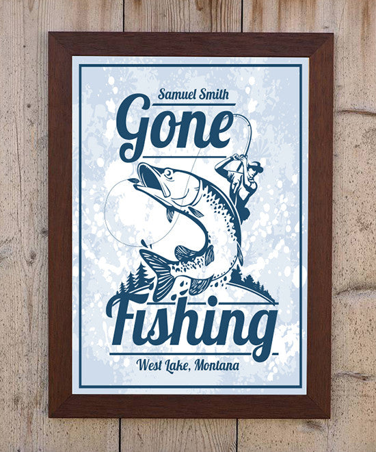 Gone Fishing Print - Hypolita Co.