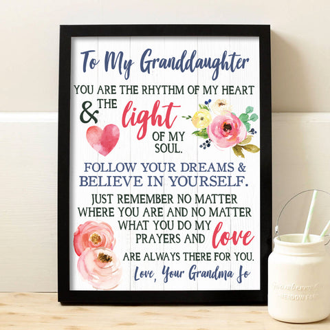 Granddaughter Keepsake Print