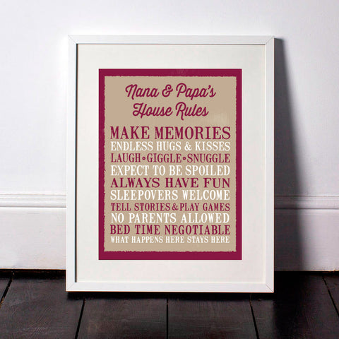 Grandparent Rules Print - Hypolita Co.