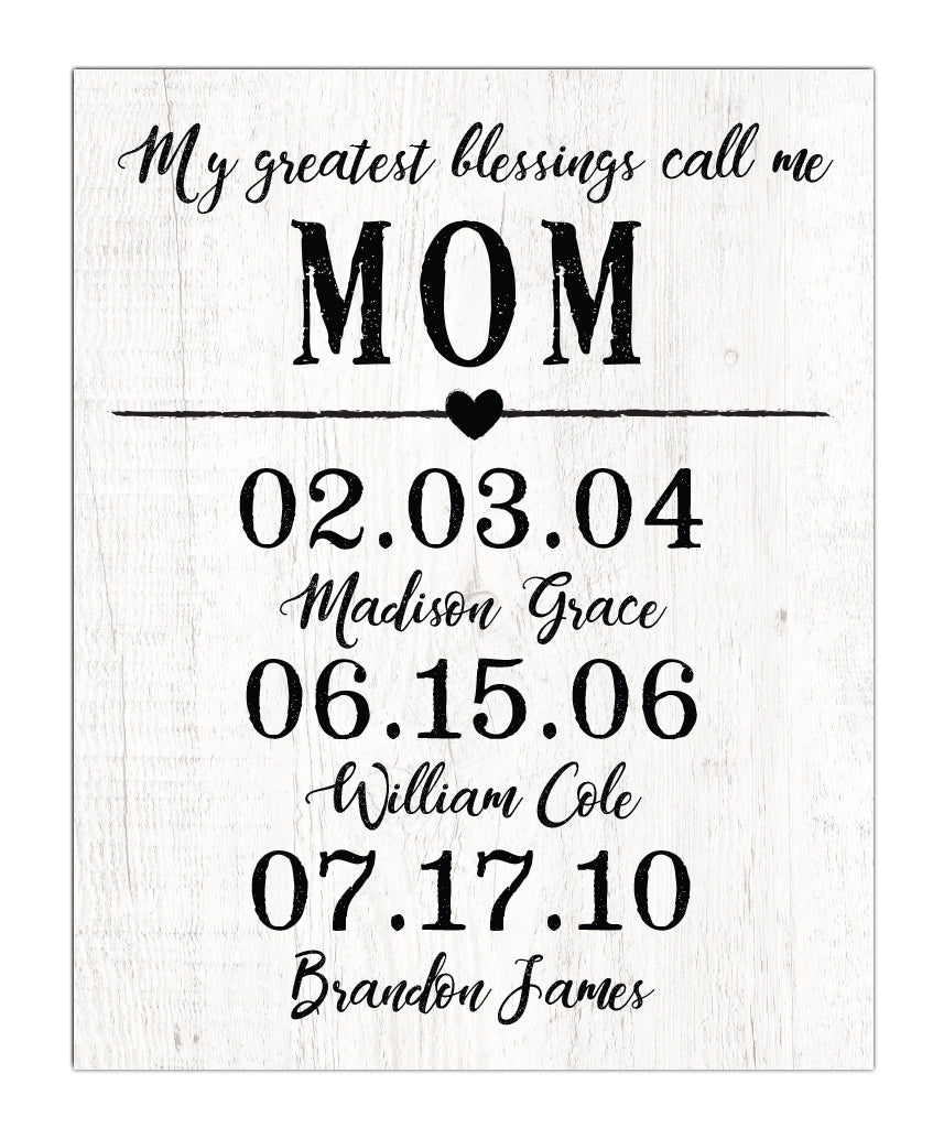 Mother Special Date Print - Hypolita Co.