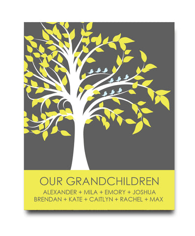 Grandparent Family Tree Print - Hypolita Co.