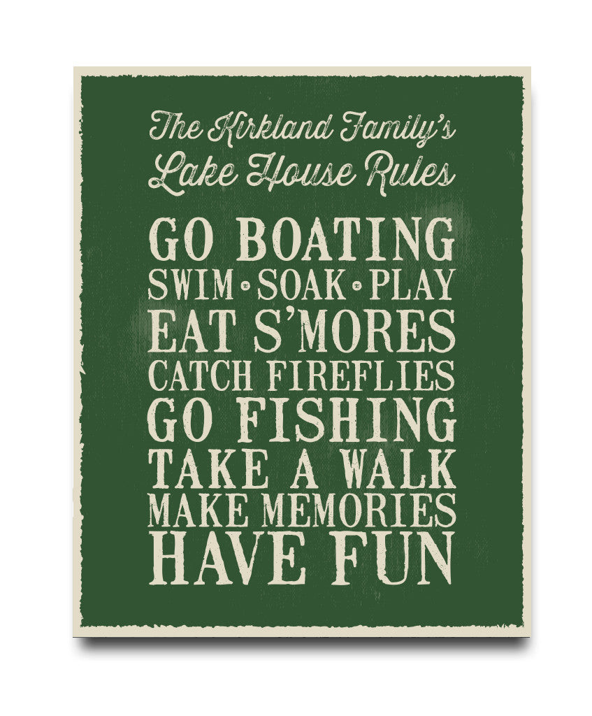 Lakehouse Rules Print