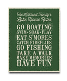 Lakehouse Rules Print - Hypolita Co.