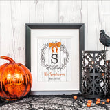 Halloween Wreath Print - Hypolita Co.