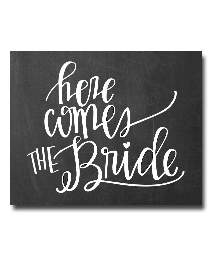 Here Comes the Bride Print - Hypolita Co.