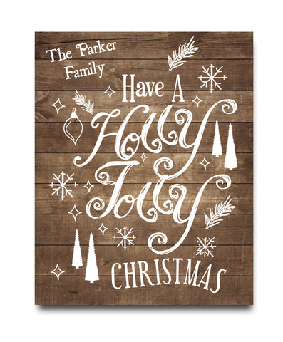 Holly Jolly Christmas Print - Hypolita Co.