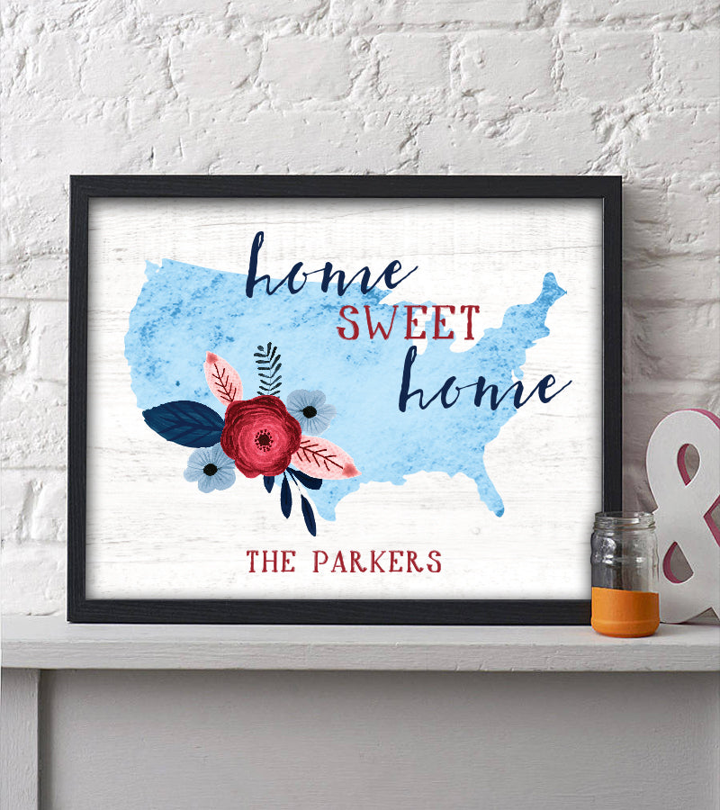 July Freebie USA Home Sweet Home Print | Instant Download