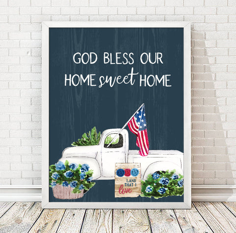 July Freebie Home Sweet Home Print | Instant Download