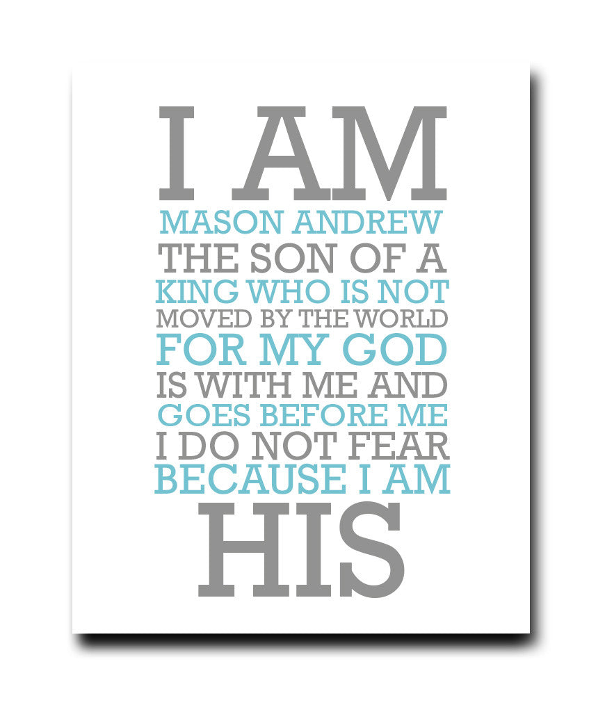 I Am His Print - Hypolita Co.