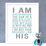 I Am His Boys Print - Hypolita Co.