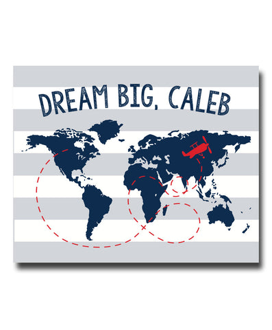 Dream Big Map Print - Hypolita Co.
