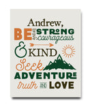 Be Strong & Courageous Print - Hypolita Co.