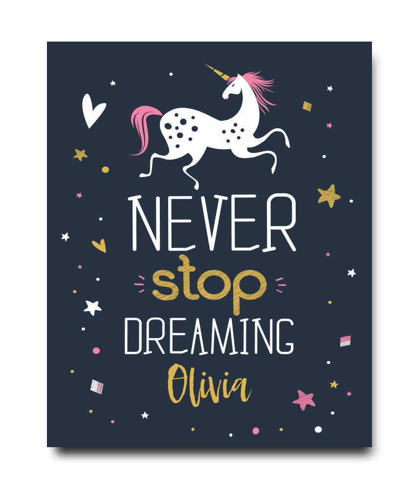 Unicorn Dreaming Print - Hypolita Co.