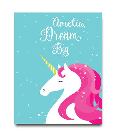 Dream Big Unicorn Print - Hypolita Co.