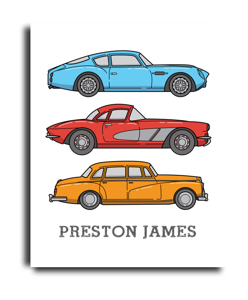 Retro Cars Print - Hypolita Co.