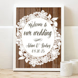 Burlap and Lace Welcome Print - Hypolita Co.