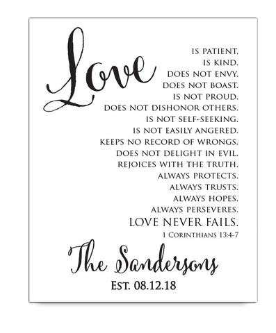 Corinthians Wedding Print - Hypolita Co.