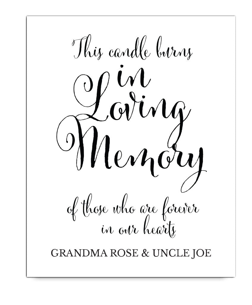 In Loving Memory Print - Hypolita Co.