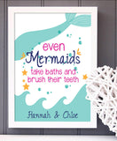 Mermaid Bathroom Print - Hypolita Co.