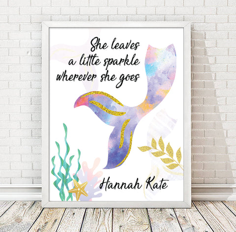 Personalized Mermaid Print