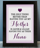 Grandmother Appreciation Print - Hypolita Co.