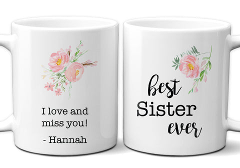 Personalized Sister Mug - Hypolita Co.