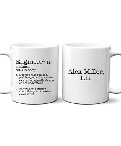 Personalized Engineer Mug - Hypolita Co.