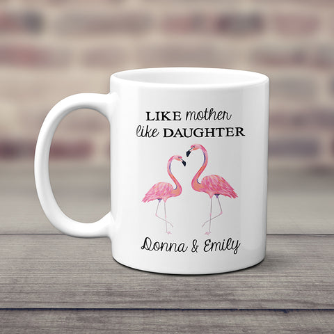 Flamingo Mom And Daughter Mug