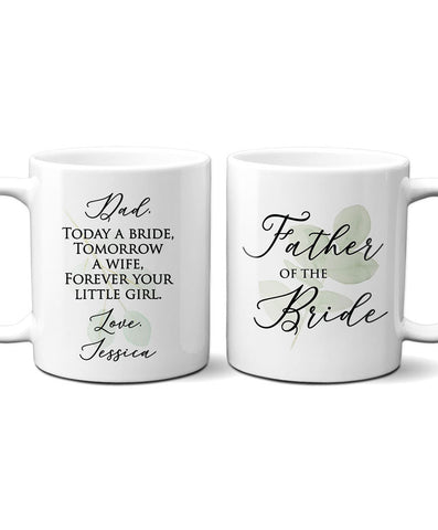 Personalized Father of Bride Mug