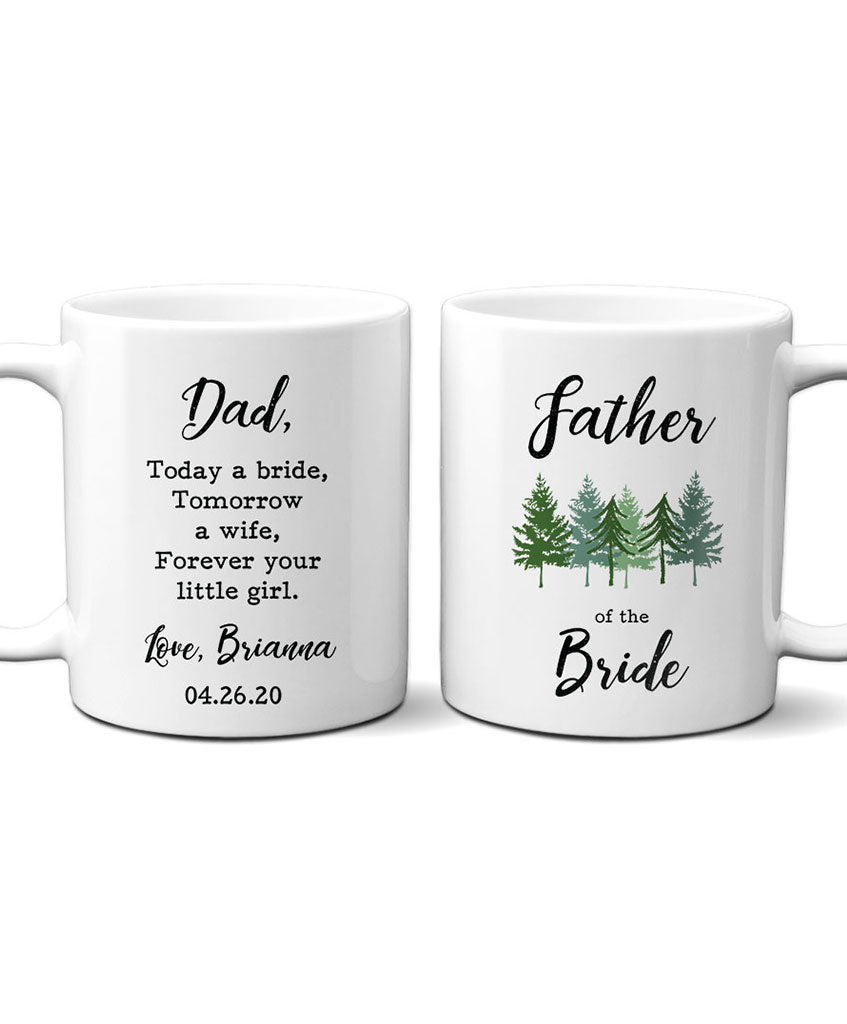 Personalized Father of Bride Mug - Hypolita Co.