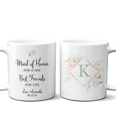 Personalized Maid of Honor Mug