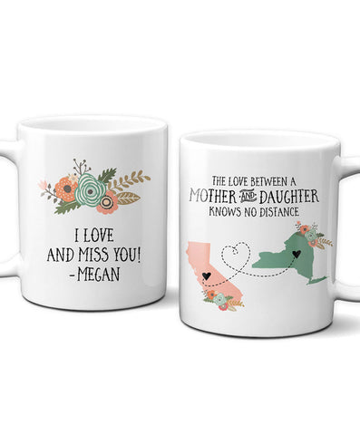 Mother Daughter Long Distance Mug - Hypolita Co.