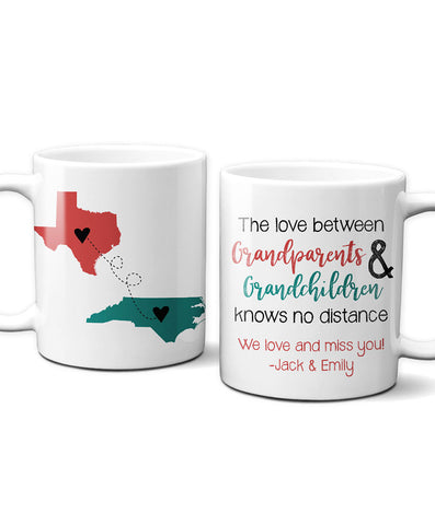 Personalized Grandparent Long Distance Mug - Hypolita Co.