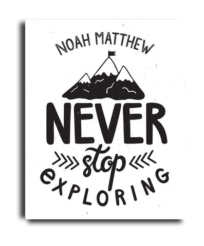 Never Stop Exploring Print - Hypolita Co.