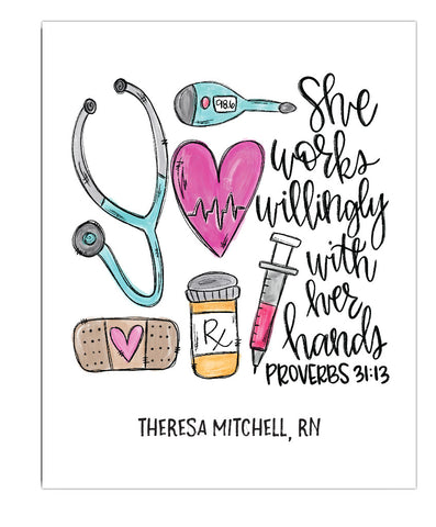 Nurse Proverbs Print - Hypolita Co.